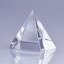 "High Quality Clear Crystal Pyramid 3"" with Gift Box"