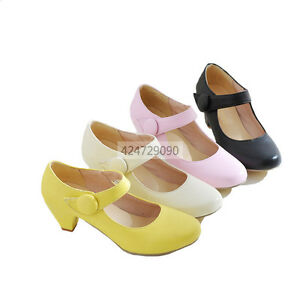 Hot-Womens-Ladies-Mid-Kitten-Heels-Ankle-Strap-Pumps-Miss-Causal-Shoes-YD353