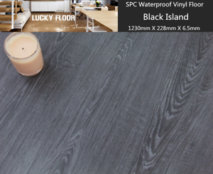 Sample-6-5mm-SPC-Vinyl-flooring-water-proof-floor-Black-Island