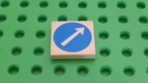 LEGO ® 1x 3068bp50 weiss 262 Fliese 2 x 2 mit weißem Pfeil im blauen Kreismuster