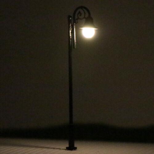 LED Lampen 66mm Spur H0 00 Leuchte Straßenlampen NEU LYM39DE 10 Stk