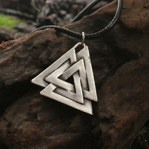 Details About Valknut Odin S Symbol Of Norse Viking Warriors Men S Silver Pendant Necklace
