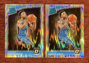 Lot of (2) 2018-19 Donruss Optic HAMIDOU DIALLO Rated Rookie Shock Holo 171 RC🔥