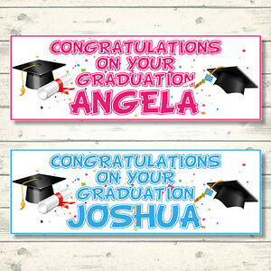 personalized congratulations banners