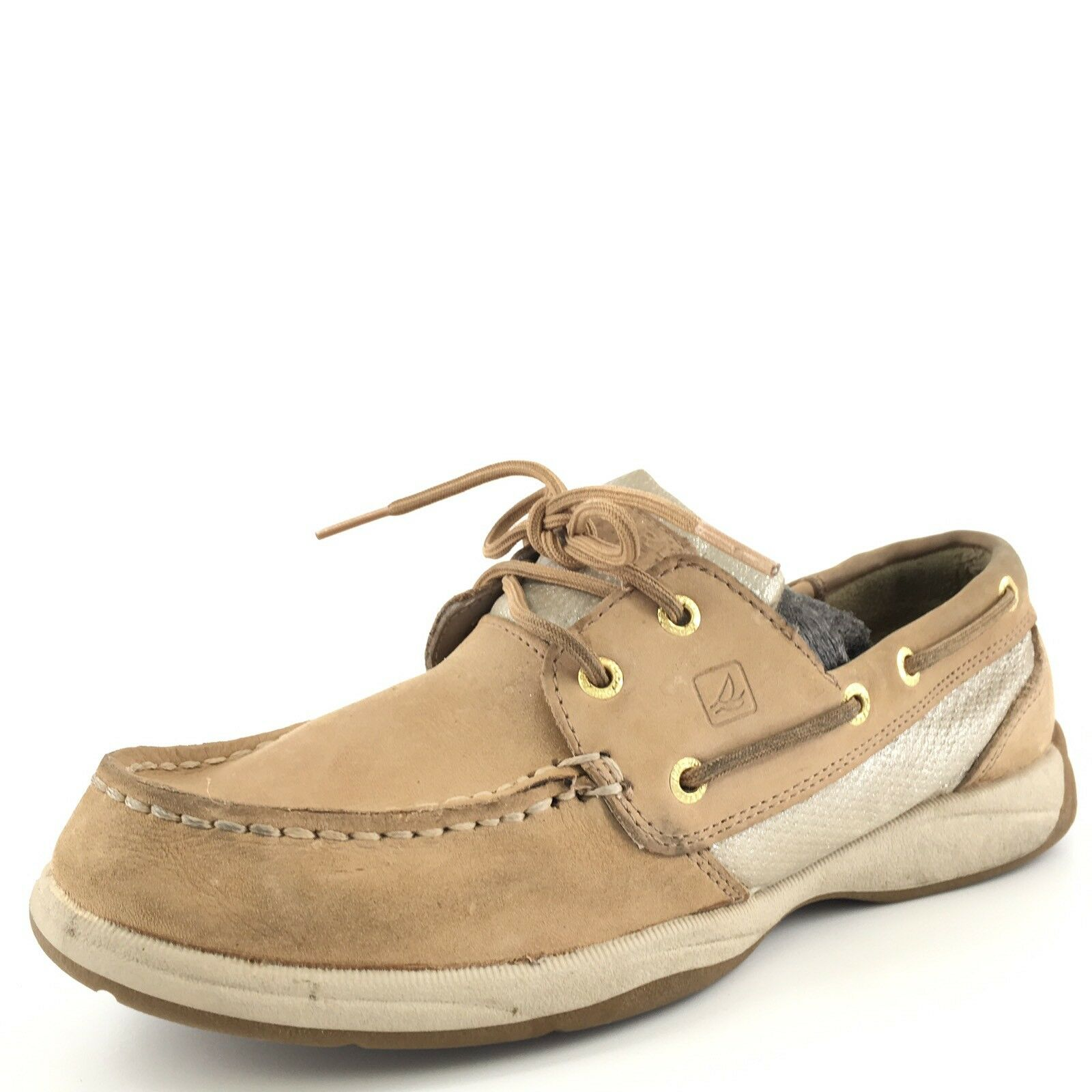 Sperry Top Sider Interprid Tan Leather Dock Boat shoes Women's Size 8 M