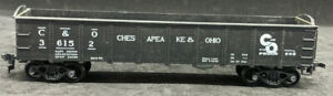 ROUNDHOUSE-Chesapeake-amp-Ohio-C-amp-O-36152-BLACK-GONDOLA-DIE-CAST-VINTAGE-H0