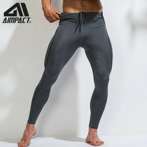 Sport Compression Leggings Men Tight Training Gym Quick Dry Pants by   AIMPACT