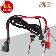 1x Relay Wiring Harness HID Conversion Kit Hi/Lo Beam Headlights  H13 9008 US