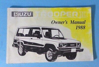 isuzu trooper ii owners manual ebay