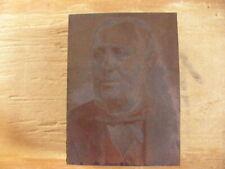 Samuel Jordan Kirkwood Antique Historical Iowa Printing Press Block