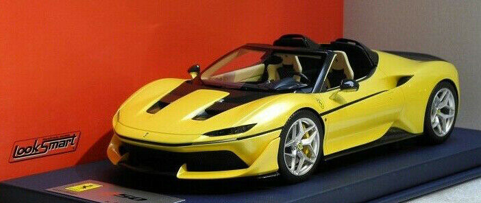 Looksmart 2016 FERRARI J50 SPIDER yellow Tristrato Shiny w showcase 1 18 Scale