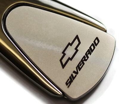 Chevy Chevrolet Silverado Chrome Teardrop Authentic Logo Key Ring Fob Keychain