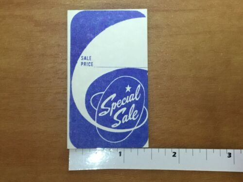 1000 Special Sale Coupon Merchandise Price Tags Unstrung Label  Blue or Red
