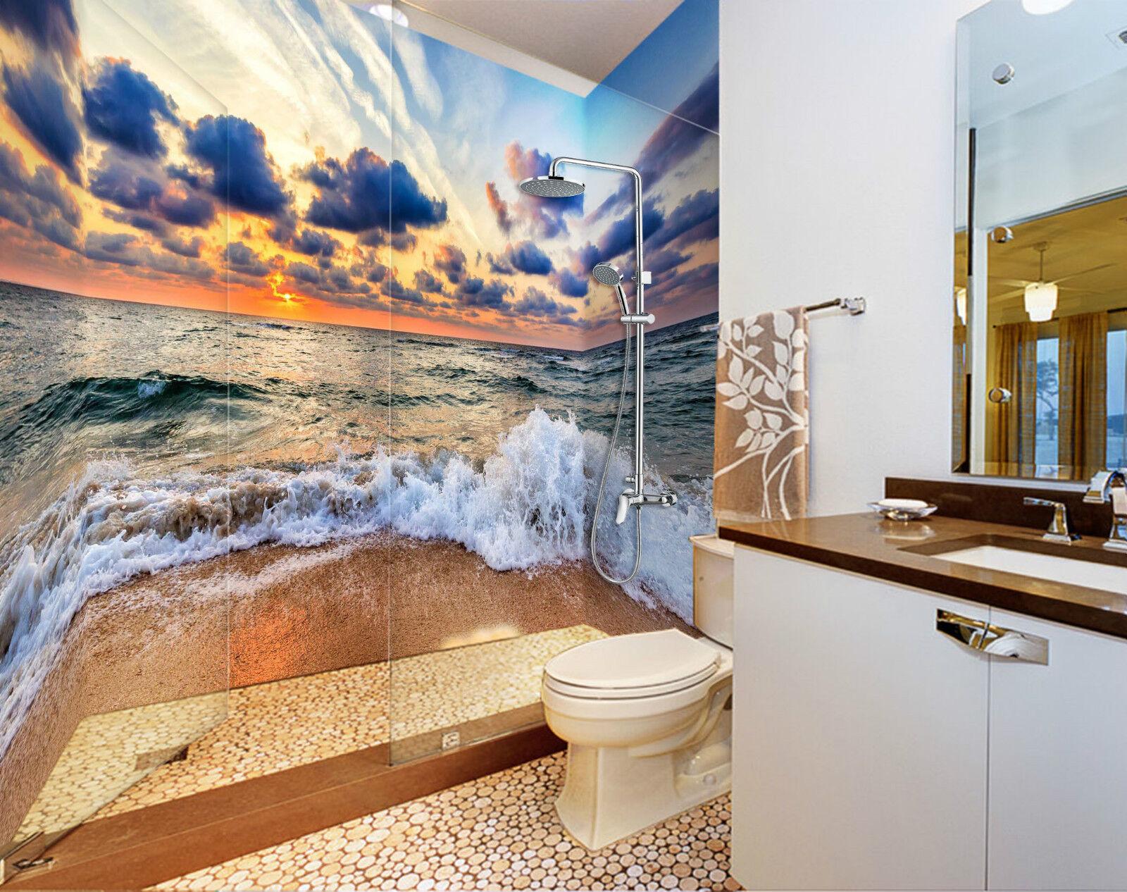3D Sea Sunset Glow 120 WallPaper Bathroom Print Decal Wall Deco AJ WALLPAPER CA