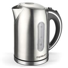 Hochwertiger Design Edelstahl Wasserkocher Teekocher 1,7L 2200W Kabellos LED Neu