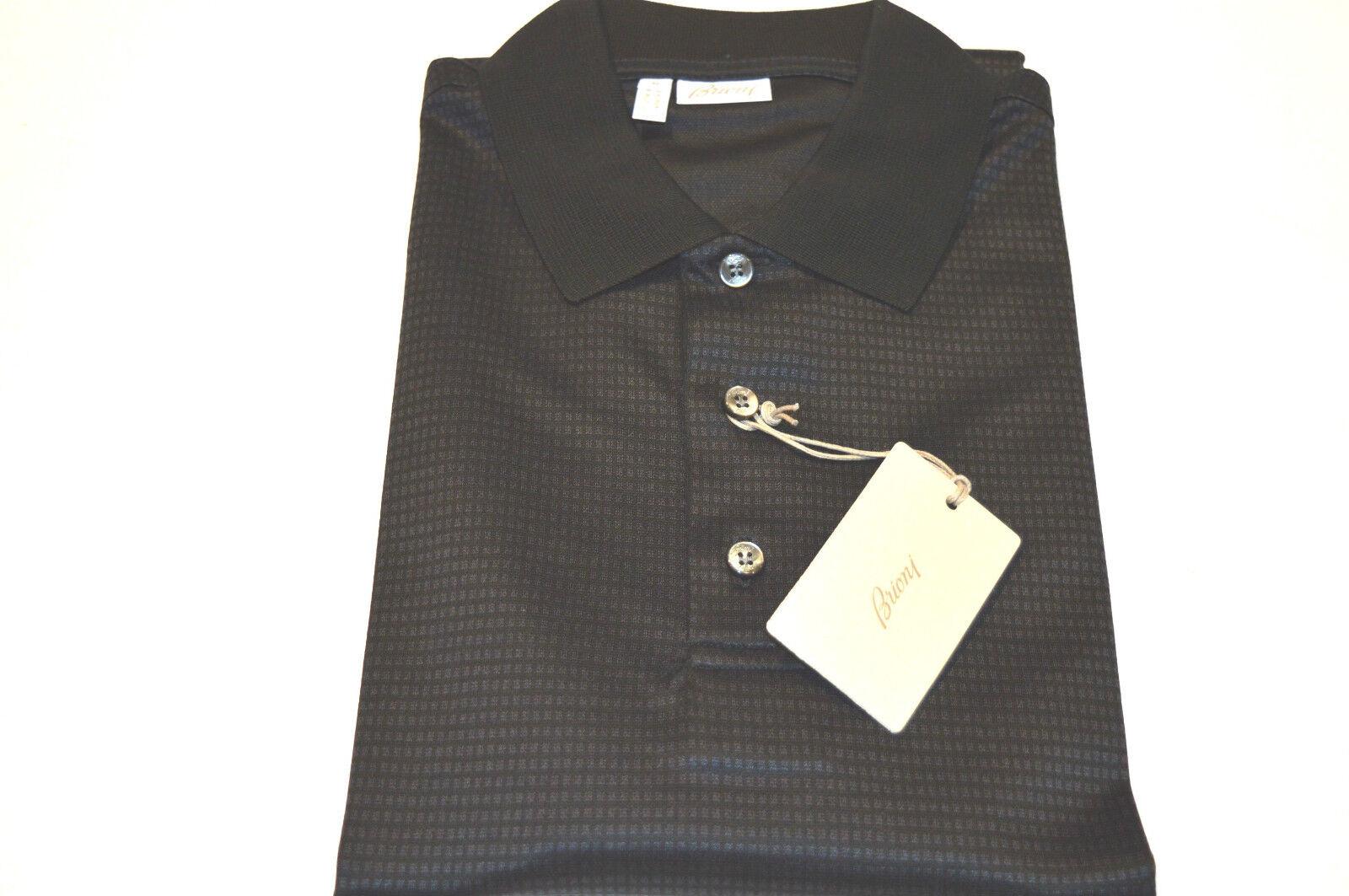 NEW  BRIONI Polo  Short Sleeve  57% Cotton  43%Silk Größe M Us Eu 50 (SpquadrB)