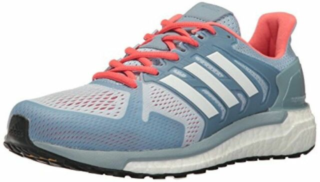 adb036e32aee92 Adidas Supernova ST Women s Running Shoe Size 6 Easy Blue Cloud White Easy  Coral