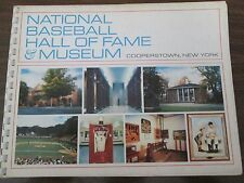 1972 NATIONAL BASEBALL HALL OF FAME SOUVENIR SPIRAL BOUND BOOK 75 PGS EX COND