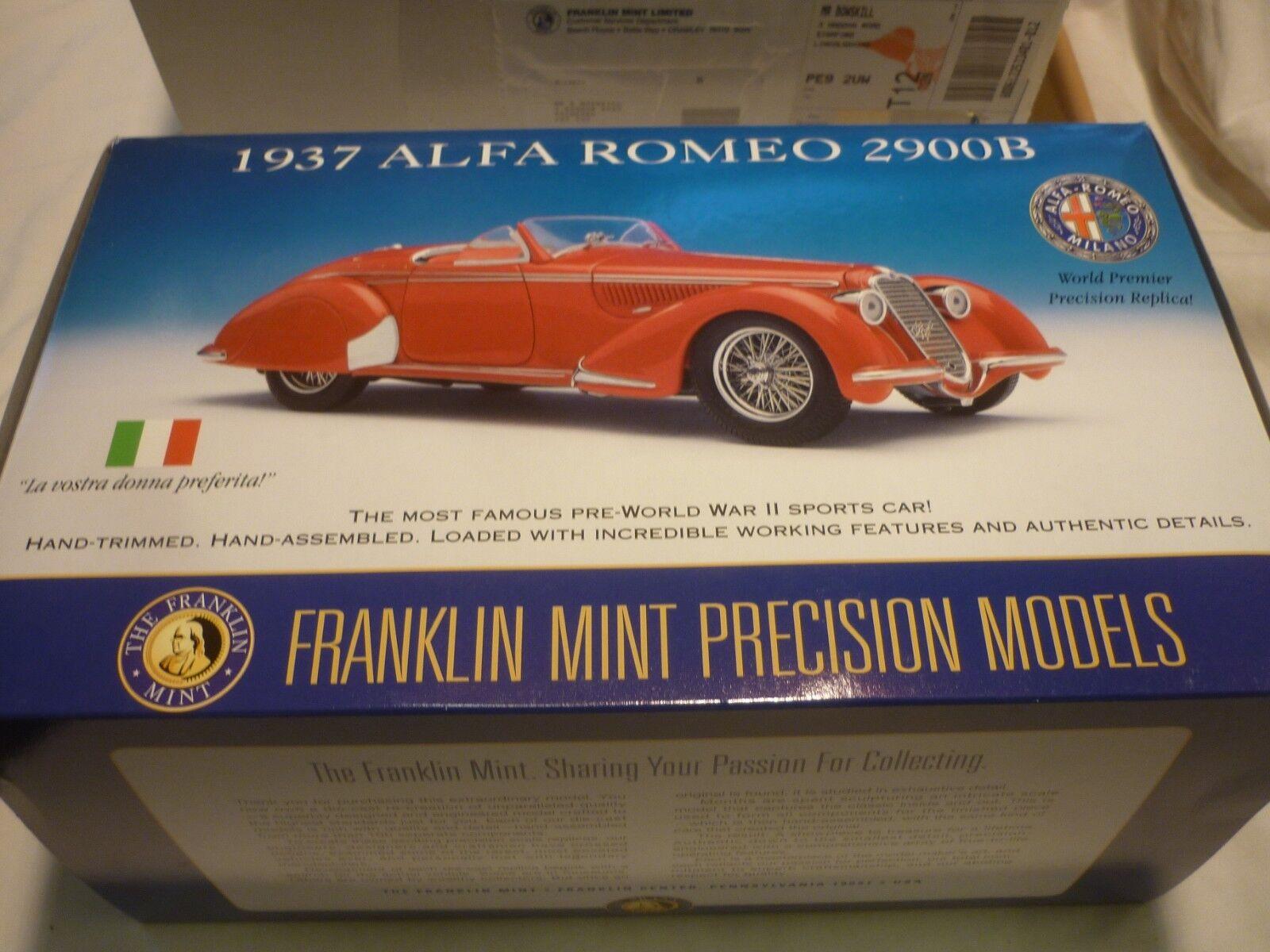 Franklin Mint Alfa Romeo 1937, 2900B, papeles, en Caja