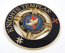 """Knights Templar In Hoc Signo Vinces Masonic3"""" auto emblem Metal car decal MAS27"""