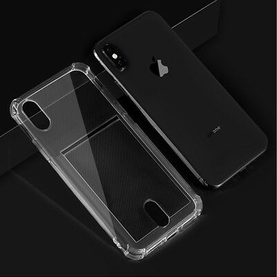 Clear TPU Skin Case Cover ID Credit Card Slot for Apple iPhone X/XS/XR/XS MAX