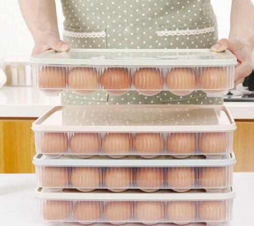Slide Kitchen Saver Egg Fridge Space Freezer Organizer Rack Storage Shelf Holder