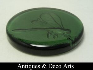 Green-Glass-Paperweight-with-Dragonfly