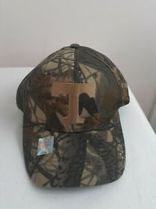 NCAA University Of Tennessee Volunteers Cap Hat Camo Poly Cotton Official Merch