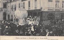 CPA 71 CHALON SUR SAONE CARNAVAL 1912 VERDA STELLO