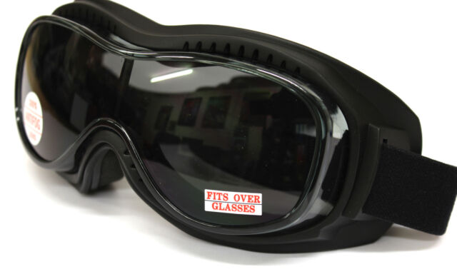 Large Design Comfy Fit Motorcycle Goggles Fits Over Prescription