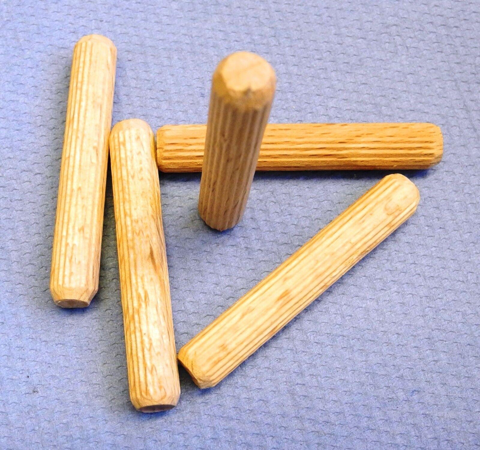 Holzdübel geriffelt, Ø8 x 50mm, Buche, 9kg