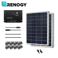 Renogy Solar Panel 200 Watt 2 100w 12v Pv Off Grid Kit Rv Boat Battery Charger