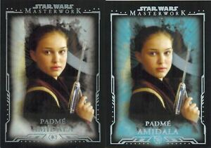 STAR-WARS-Masterwork-2015-Lot-of-2-Different-Cards-of-Padme-Amidala-8