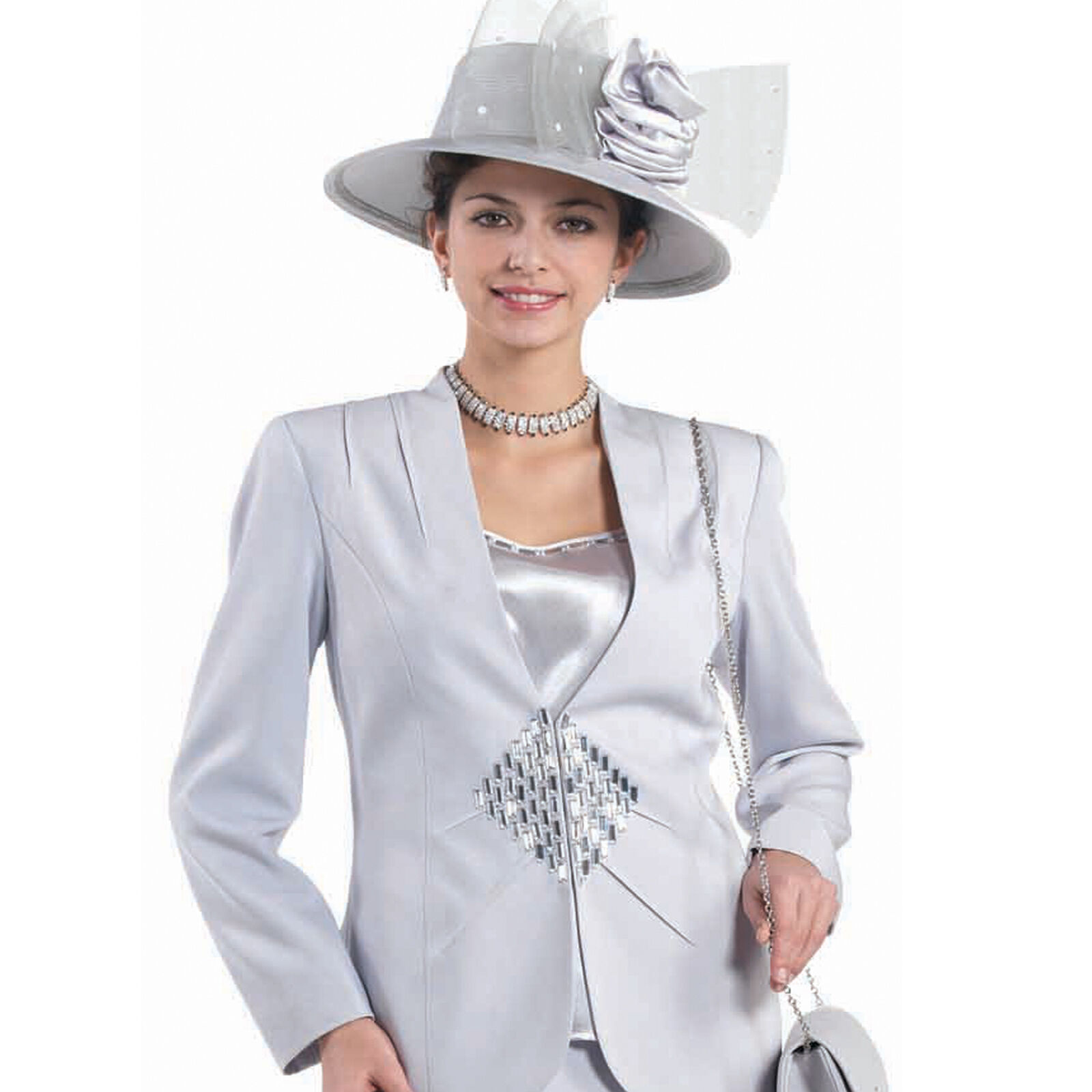 Sunday bäst kvinnor Church Suit - mjuk Crepe Fabric - ståard to Plus Storlek - L348