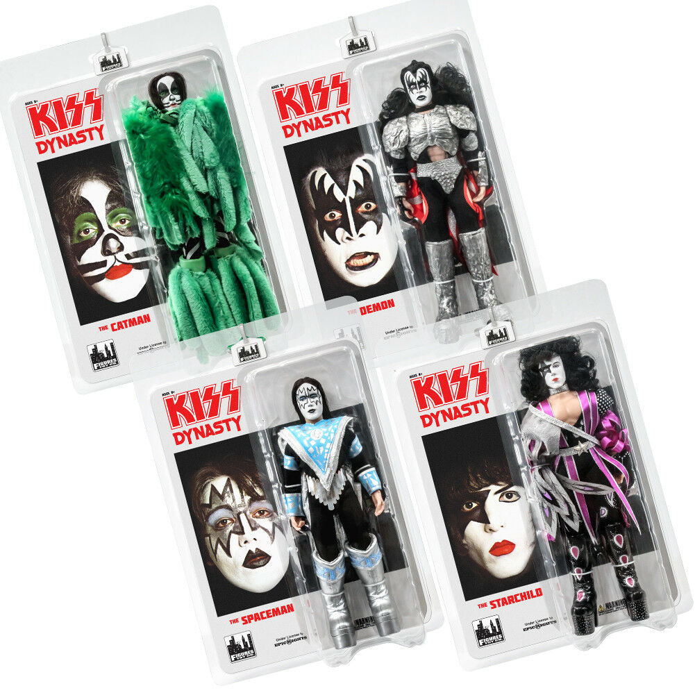 KISS 8 Inch Action Figures Series Eight Dynasty  Set of all 4