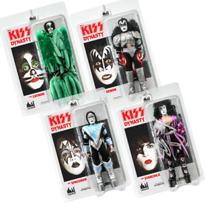 KISS-8-Inch-Action-Figures-Series-Eight-Dynasty-Set-of-all-4