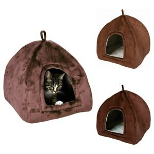 Trixie-Moon-Cuddle-Cat-Cave-Dark-Brown-Choice-Of-Sizes