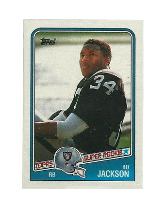 1988 Topps Bo Jackson Los Angeles Raiders #327 Football Card