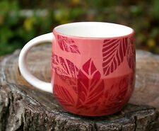 Starbucks Coffee Company Hand Painted 2011 Mug Cup Wine Red Purple Mauve Pink