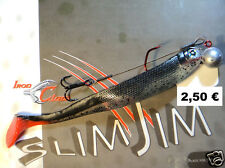 "Iron Claw Slim Jim /""Black-Green-White/"" 13 cm Softbait  Zander-Hecht-BarschSänger"