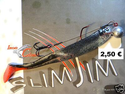 Iron Claw Slim Jim 13 cm incl VMC-Jig 3//0 14g inkl Stinger Gummifisch Hecht