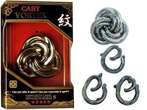 HANAYAMA-L5-CAST-PUZZLE-VORTEX-METAL-BRAIN-TEASER-MIND-BENDER-NOVELTY-TRICK-TOY