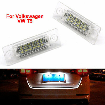 Light Number Light LED License Plate For T5 VW Volkswagen Passat Jetta Golf