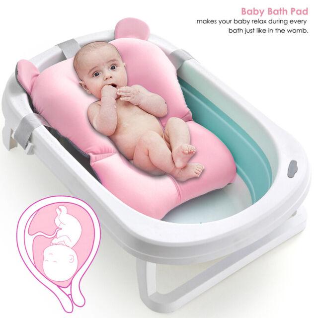 Infant Baby Bath Tub Pillow Pad Lounger Air Cushion Newborn Shower Net Bathtub