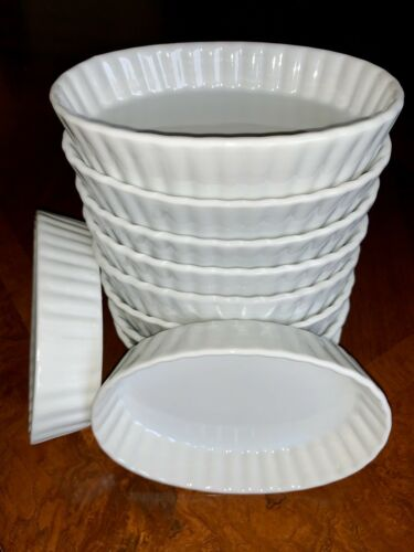 Porcelain Cookware Small Oval White Desert//Side Dish Appetizer Display Dish