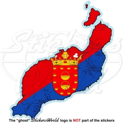 Canaries Espagne islas canarias vinyle autocollant decal Lanzarote map-flag