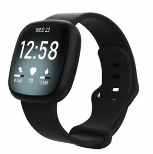 Strap-For-Fitbit-Versa-3-Sense-Replacement-Watch-Band-Wristband-Black