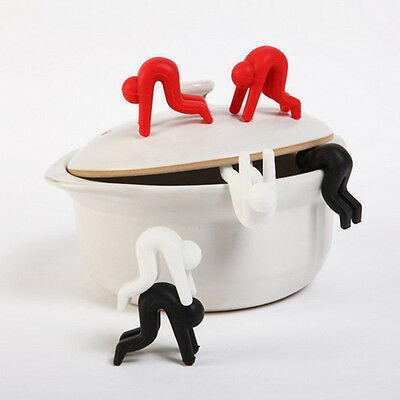Silicone Kitchen Cooking Gadget Pot Spill-proof Lid Stand Heat Resistant Holder