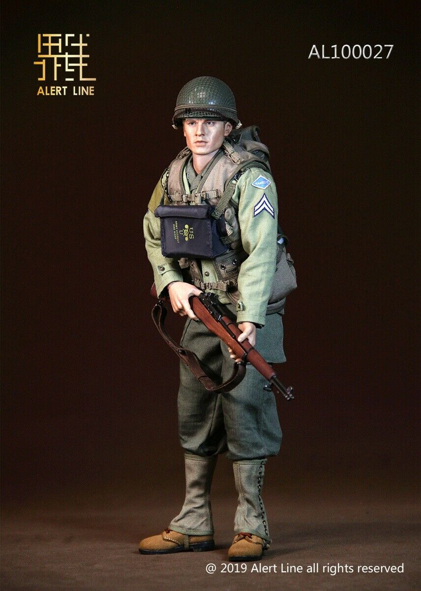 "Alert Line 1//6 Scale WWII US Army Medical Guard Set for 12/"" Figure AL-10014"