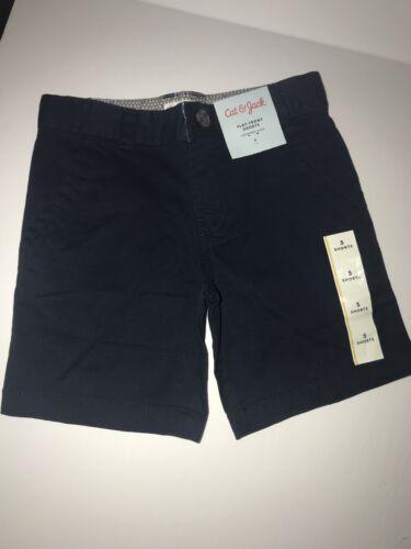 Details about  /Cat /& Jack Boys Flat Front Shorts Size 5 Fighter Pilot Blue Adjustable Waist New